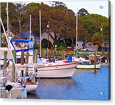 Southport Watercolor Acrylic Print by Garland Johnson