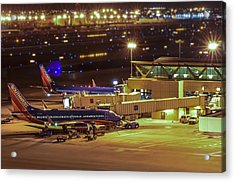 Southwest 737s In For The Night Acrylic Print