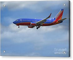 Southwest Airlines Jet Acrylic Print by D Wallace