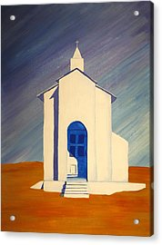 Southwest Contemporary Art - Desert Solitude Acrylic Print by Karyn Robinson