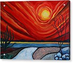 Southwest Desert Sun Acrylic Print