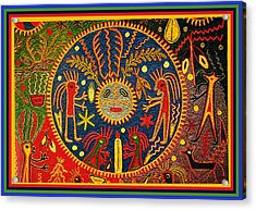 Southwest Huichol Del Sol Acrylic Print