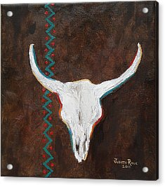 Southwestern Influence Acrylic Print by Judith Rhue
