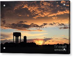 Water Towers On Southwold Common Acrylic Print