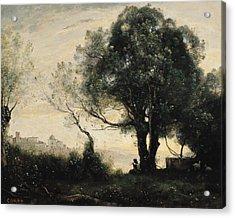 Souvenir Of Castel Gandolfo Oil On Canvas Acrylic Print