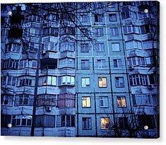 Soviet-era Housing In Transnistria Acrylic Print by Amos Chapple