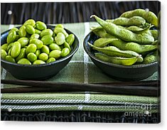 Soy Beans In Bowls Acrylic Print by Elena Elisseeva