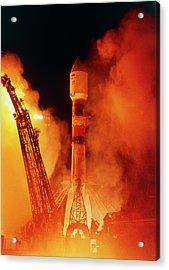 Soyuz-fregat Rocket Launch Acrylic Print