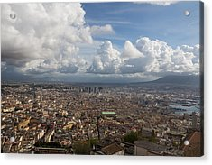 Spaccanapoli - The Historic Main Street That Divides The Center Of Naples Italy Acrylic Print by Georgia Mizuleva