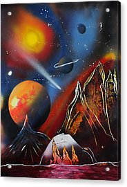 Space 016 Acrylic Print by Frank Carter