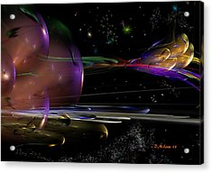 Space Abstraction Acrylic Print by David Lane