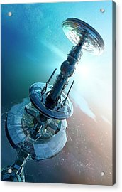 Space Craft Acrylic Print by Victor Habbick Visions