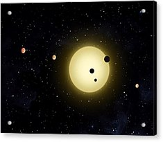Space Kepler 11 Introduction Acrylic Print by Movie Poster Prints
