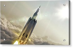 Space Launch System Launch Acrylic Print by Nasa/msfc