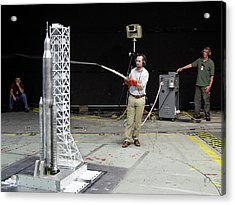 Space Launch System Testing Acrylic Print