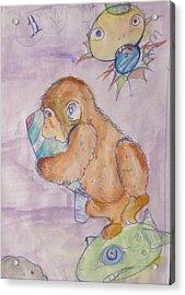 Space Monkey Acrylic Print by Erik Franco