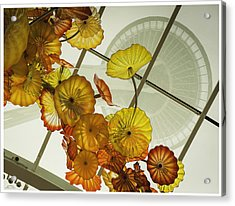 Space Needle And  Chilhuly Glass Acrylic Print