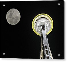 Space Needle Acrylic Print by David Gleeson
