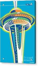 Space Needle Pop Art Acrylic Print