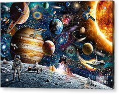 Space Odyssey Acrylic Print by Adrian Chesterman