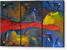 Acrylic Print featuring the painting Space Odyssey by Linda Ferreira