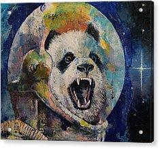 Space Panda Acrylic Print by Michael Creese