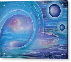 Space Paradise Acrylic Print by Krystyna Spink