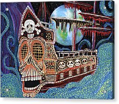 Space Pirates Acrylic Print by Laura Barbosa