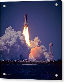 Space Shuttle Challenger Sts-6 First Flight 1983 Photo 1  Acrylic Print