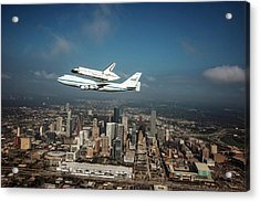 Space Shuttle Endeavour Piggyback Flight Acrylic Print by Nasa/sheri Locke