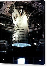 Space Shuttle Engine Testing Acrylic Print by Nasa