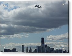 Space Shuttle Enterprise Flys Over Nyc Acrylic Print by Steven Spak