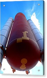 Space Shuttle Fuel Tank And Boosters Acrylic Print
