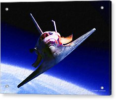 Space Shuttle Head On Acrylic Print by Douglas Castleman