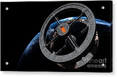 Space Station 5 In Earth Orbit Acrylic Print by Rhys Taylor