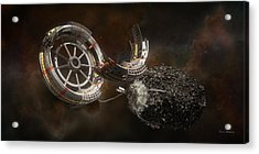 Acrylic Print featuring the digital art Space Station Construction by Bryan Versteeg