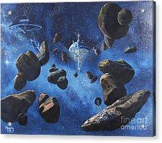 Space Station Outpost Twelve Acrylic Print by Murphy Elliott