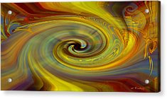 Acrylic Print featuring the digital art Space Tapestry by rd Erickson