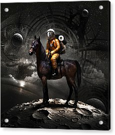 Space Tourist Acrylic Print by Vitaliy Gladkiy