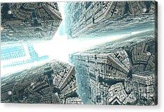 Space Travel Acrylic Print by Bernard MICHEL