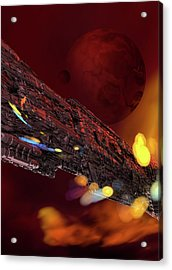 Spacecraft Acrylic Print by Victor Habbick Visions