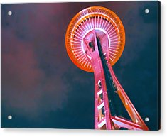Spaced Needle Acrylic Print by Michael Wilcox