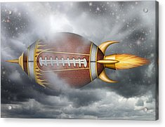 Spaceship Football Acrylic Print