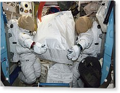 Spacesuits On The Iss Acrylic Print