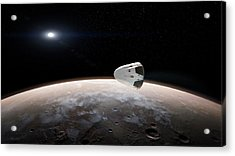 Spacex's Red Dragon At Mars Acrylic Print by Spacex/science Photo Library