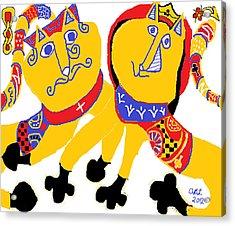 Spades And Clubs Acrylic Print