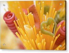 Spaghetti And Coloured Pasta (detail) Acrylic Print