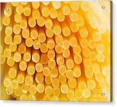 Spaghetti Macro Acrylic Print by Mythja  Photography