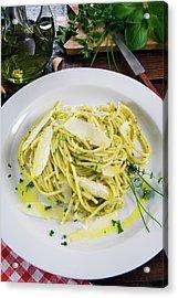 Spaghetti With Herbs - Rosemary, Thyme Acrylic Print
