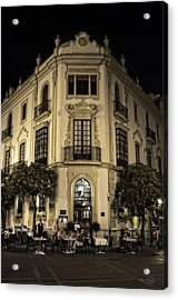 Spain At Night Acrylic Print by Mary Machare